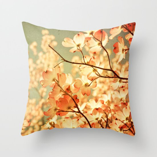 Vintage Pink Throw Pillow