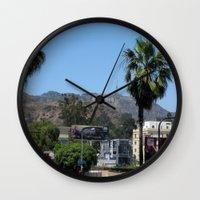 hollywood Wall Clocks featuring Hollywood by Elizabeth Tompkins