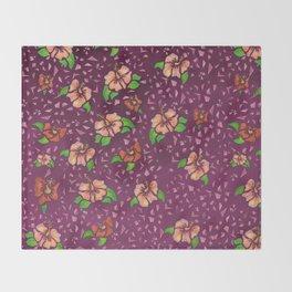 Flor de Maga - Warm Colors Throw Blanket