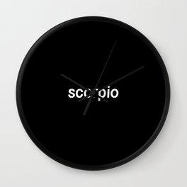 Scorpio (Black) Wall Clock
