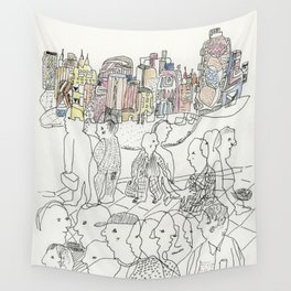 NYC buildings Wall Tapestry