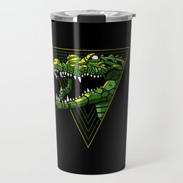Cyber Crocodile Punk Travel Mug