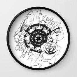 Bird Design Wall Clock
