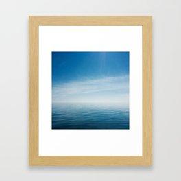 sky meets lake Framed Art Print