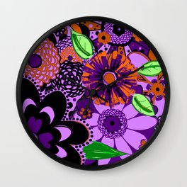 Flowers To Go Wall Clock