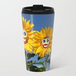 Sonnenblumenfrau und Sonnenblumenmann Travel Mug