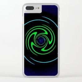 Blue Wheel Clear iPhone Case