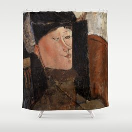 "Amedeo Modigliani ""Beatrice Hastings"", 1916 Shower Curtain"