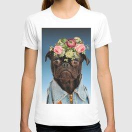 Dog flower T-shirt