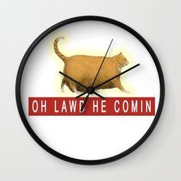 Chonk Cat Meme Wall Clock