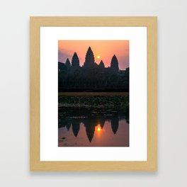 Sunrise in Angkor Wat Framed Art Print