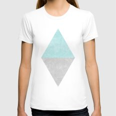 Blue Diamond Womens Fitted Tee White LARGE