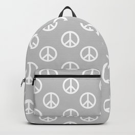 Peace (White & Gray Pattern) Backpack