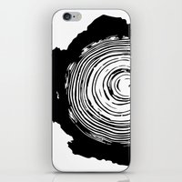 tree rings iPhone & iPod Skins featuring Tree Rings by vogel