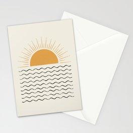 Sunrise Ocean -  Mid Century Modern Style Stationery Cards