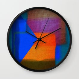 Abstract-art in colors Wall Clock