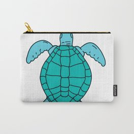 Sea Turtle Swimming Drawing Carry-All Pouch