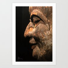 An Ancient Smile  Art Print