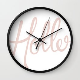 'Holler' Hand Lettering Wall Clock