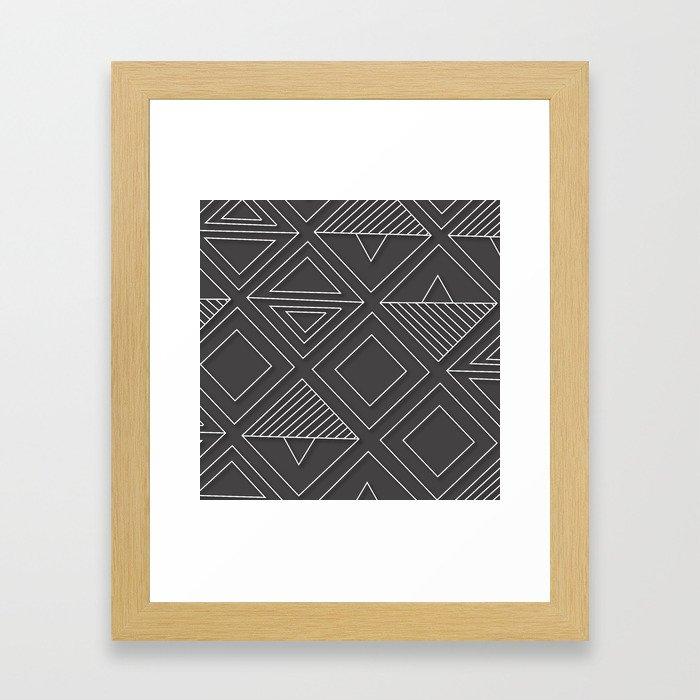 African Tribal Pattern No. 1 Framed Art Print