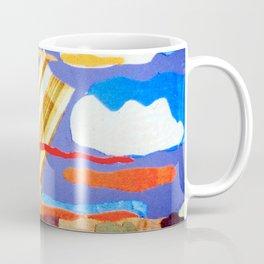 Fabric Sunset Landscape Collage Coffee Mug