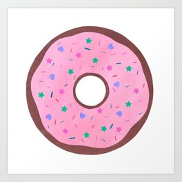 Ring Doughnut Art Print