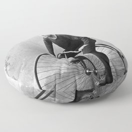 Velocipede racer Floor Pillow