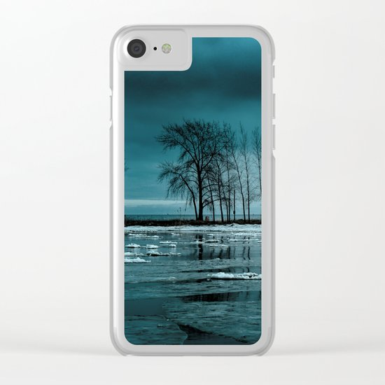 Distorted Reflections Clear iPhone Case