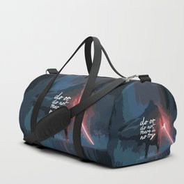 """Do or do not there is no try...""""Yoda"""" Life Inspirational Quote (Abstract Art) Duffle Bag"""