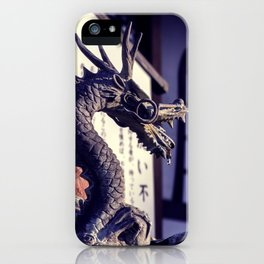 Dragon in a temple iPhone Case