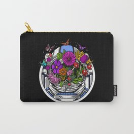Astronaut Hippie Flowers Carry-All Pouch