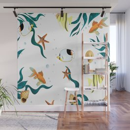 Sea life ,fish pattern Wall Mural
