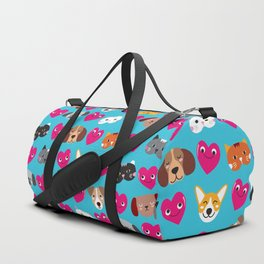 Cat Loves Dog Loves Cat Duffle Bag