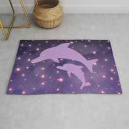 Parent-child of dolphin in Universe _03 Rug