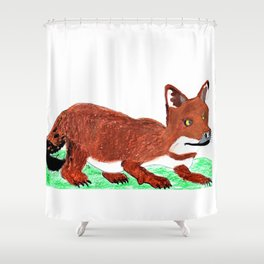 Crouching Dhole Shower Curtain