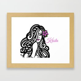 Krista Framed Art Print