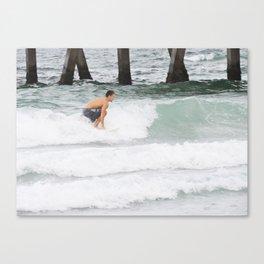 Riding A Wave  Canvas Print