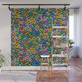 Mixed Candy Eggs Photo Pattern Wall Mural