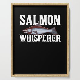 Salmon Fishing Gift Coho Salmon Fish Serving Tray