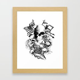 Skull Tattoo | bikers, motorcycle, rock and roll Framed Art Print