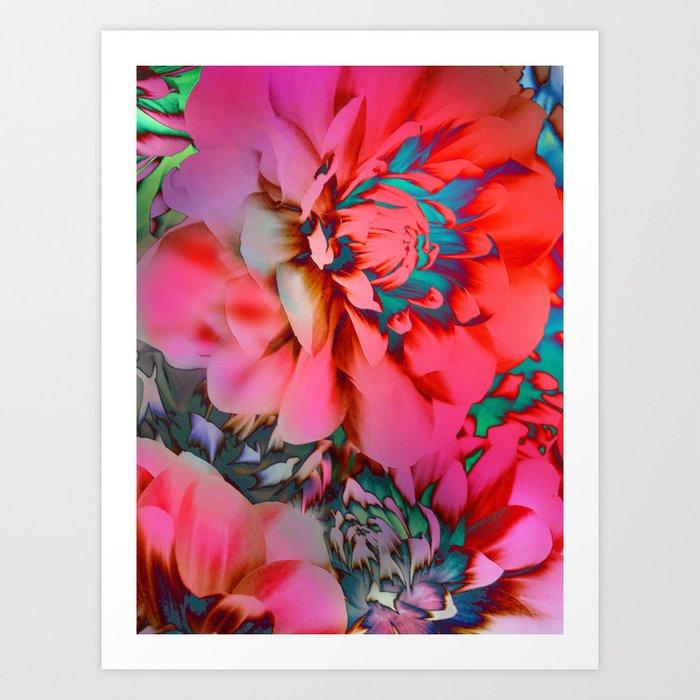 Proud Dahlias 2 Art Print