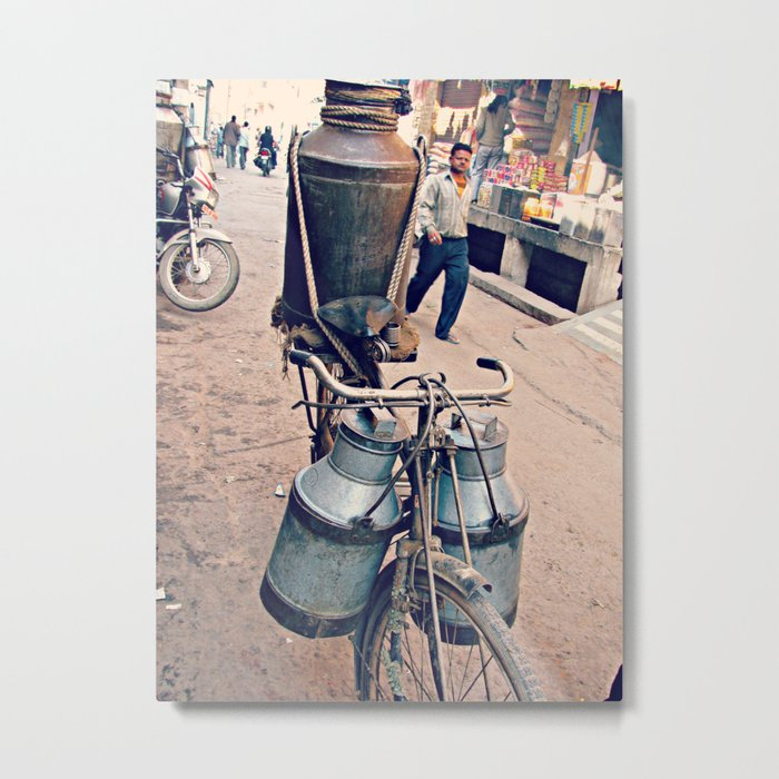 India Streets. Bike Metal Print