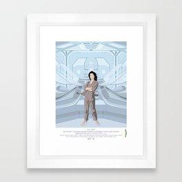 Alien (1979) movie poster - feat. Ellen Ripley Framed Art Print