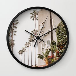 The Beverly Hills Hotel / Los Angeles, California Wall Clock