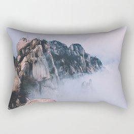 Cliffs In The Clouds Rectangular Pillow