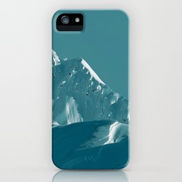 Alaskan Mts. I, Bathed in Teal iPhone Case
