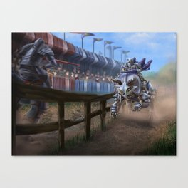 Dino Joust Canvas Print
