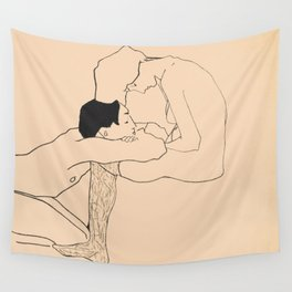 Egon Schiele - Lovers Wall Tapestry