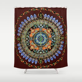 28 Red Dogs Shower Curtain