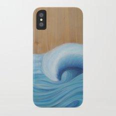 Wooden Wave Scape iPhone X Slim Case